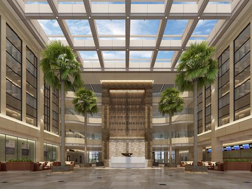 城南新院区医院大厅