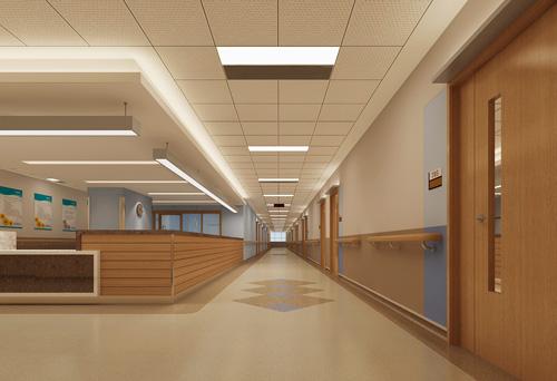 城南新院区护士站走道
